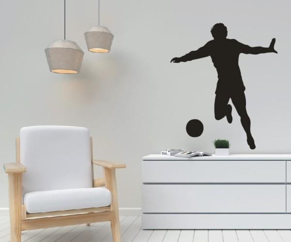 Wandtattoo - Fußball - Silhouetten / Schattenmotiv - Variante 2