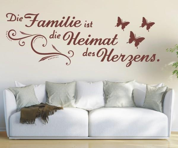 Wandtattoo - Die Familie ist die Heimat des Herzens. - Variante 5