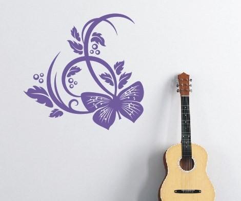 Wandtattoo - Blumenmotiv / Blumenranke | 256