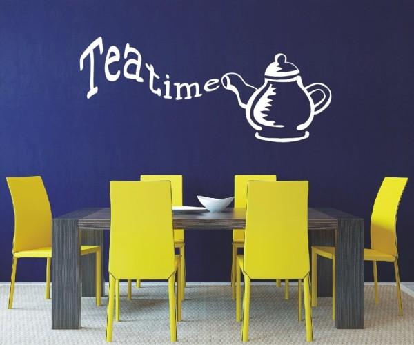 Wandtattoo - Küche - Tee Kaffee Küche Esszimmer Teekanne Wandbild Wanddeko-3