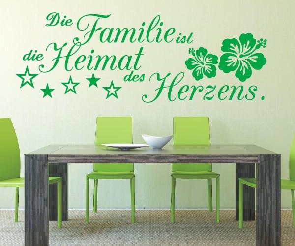 Wandtattoo - Die Familie ist die Heimat des Herzens.   12