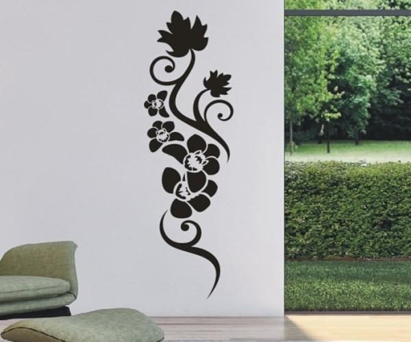 Wandtattoo - Blumenmotiv / Blumenranke - Variante 216
