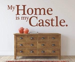 Sprüche Wandtattoos für den Flur kaufen - My Home is my Castle.