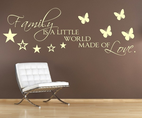 Wandtattoo - Family is a little world made of Love. - Variante 6