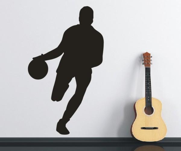 Wandtattoo - Basketball - Silhouette / Schattenmotiv - Variante 1