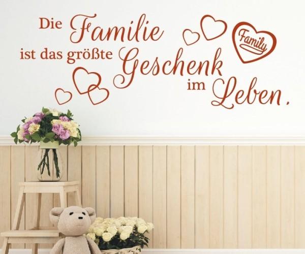 Wandtattoo - Die Familie ist das größte Geschenk im Leben. | 5