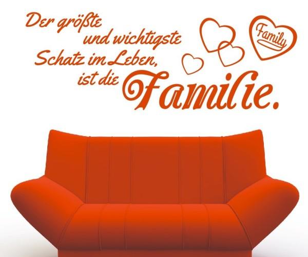 Wandtattoo - Der größte und wichtigste Schatz im Leben, ist die Familie! - Variante 6