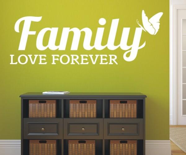 Wandtattoo - Family love forever - Variante 5