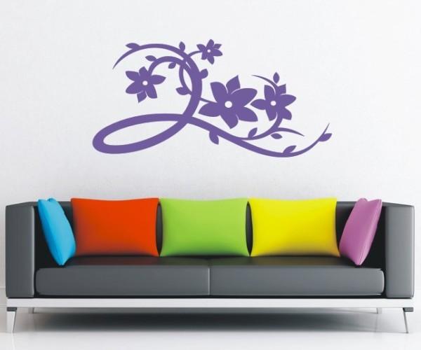 Wandtattoo - Blumenmotiv / Blumenranke - Variante 105