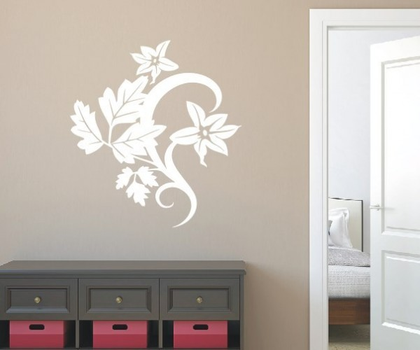 Wandtattoo - Blumenmotiv / Blumenranke - Variante 7