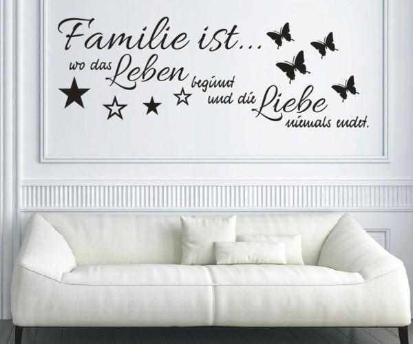 Wandtattoo - Familie ist... wo das Leben beginnt und die Liebe niemals endet.   19