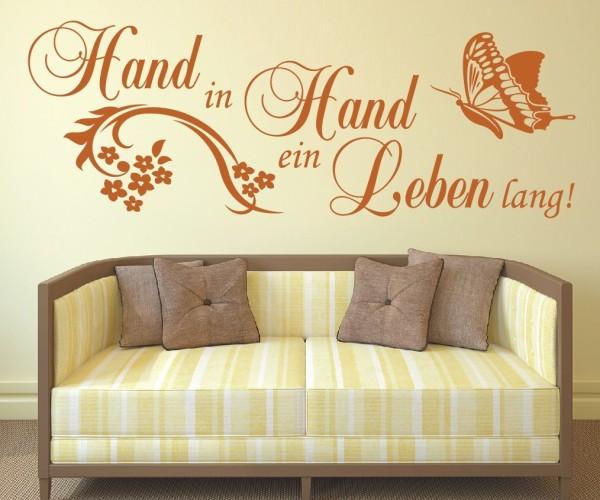 Wandtattoo - Zusammen Hand in Hand ein Leben lang!   3