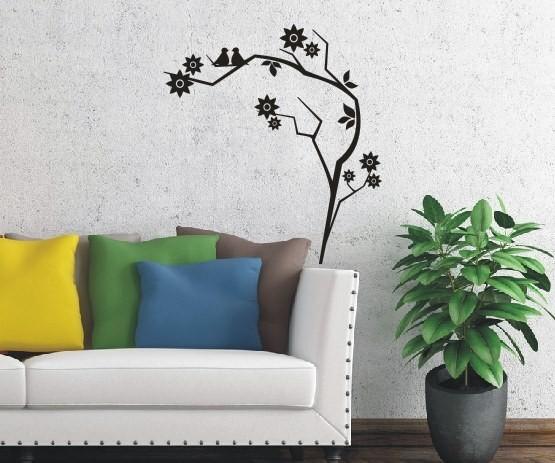 Wandtattoo - Blumenmotiv / Blumenranke   12