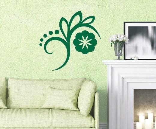 Wandtattoo - Blumenmotiv / Blumenranke - Variante 5