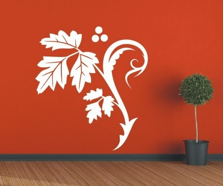 Wandtattoo - Blumenmotiv / Blumenranke - Variante 8