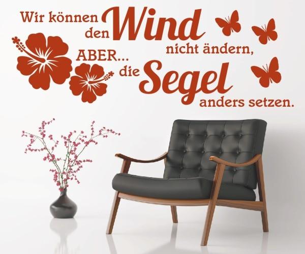 Wandtattoo - Wir können den Wind nicht ändern, ABER... die Segel anders setzen. - Variante 3