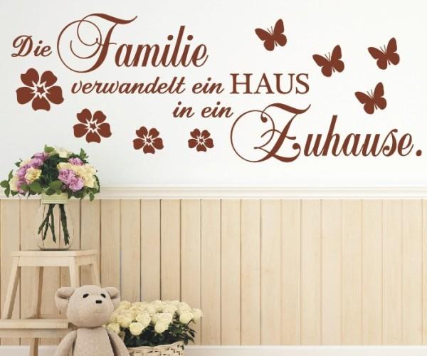 Wandtattoo - Die Familie verwandelt ein HAUS in ein Zuhause. - Variante 4