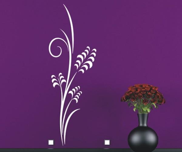 Wandtattoo - Blumenmotiv / Blumenranke - Variante 215