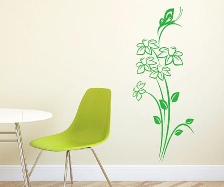 Wandtattoo - Blumenmotiv / Blumenranke | 195