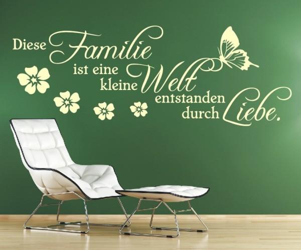 Wandtattoo - Familie ist eine kleine Welt entstanden durch Liebe. | 6