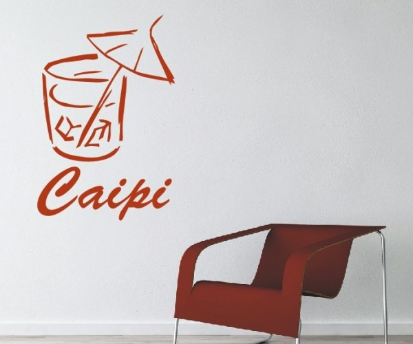 Wandtattoo - Küchen Wandtattoo - Cocktail Bar Caipi Alkohol Tresen Wandbild Wanddeko Bild-2
