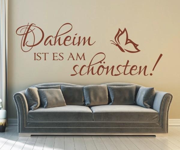 Wandtattoo - Daheim ist es am schönsten! | 1