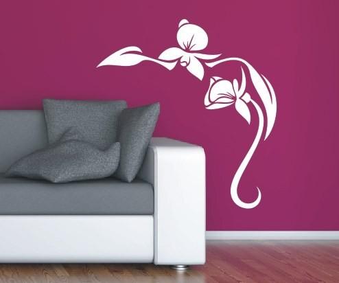 Wandtattoo - Blumenmotiv / Blumenranke | 17