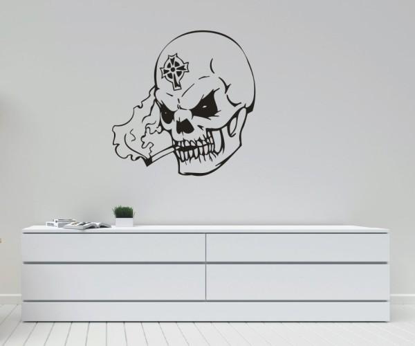 Wandtattoo - Totenkopfmotiv | 2