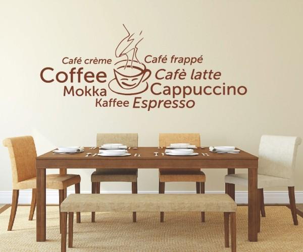 Wandtattoo - Küchen Wandtattoo - Tee Kaffee Küche Esszimmer Coffeshop Wandbild Wanddeko-19