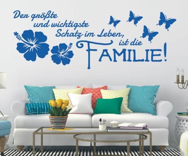 Wandtattoo - Der größte und wichtigste Schatz im Leben, ist die Familie! | 3