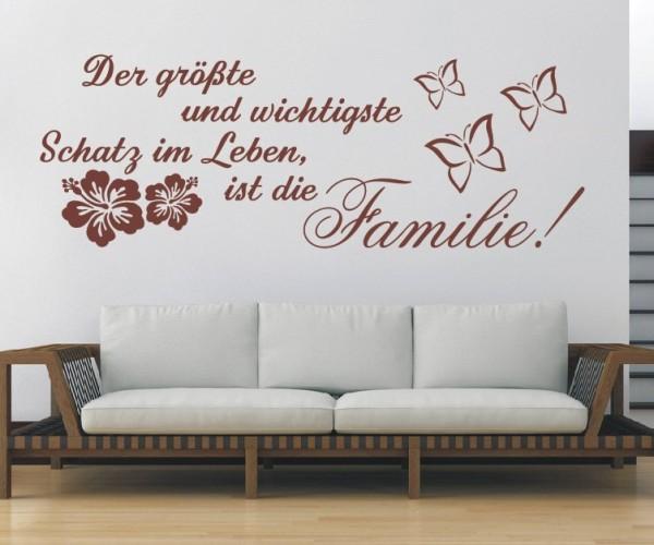 Wandtattoo - Der größte und wichtigste Schatz im Leben, ist die Familie! | 1