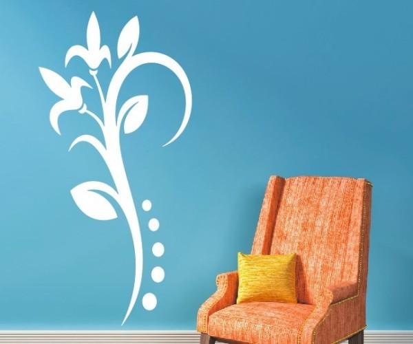 Wandtattoo - Blumenmotiv / Blumenranke - Variante 119