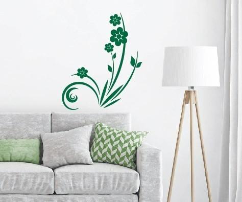 Wandtattoo - Blumenmotiv / Blumenranke - Variante 38