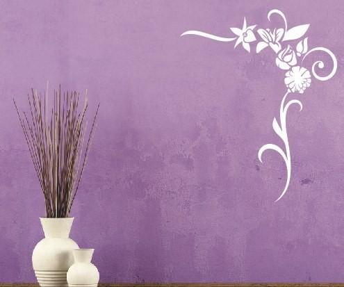 Wandtattoo - Blumenmotiv / Blumenranke - Variante 45