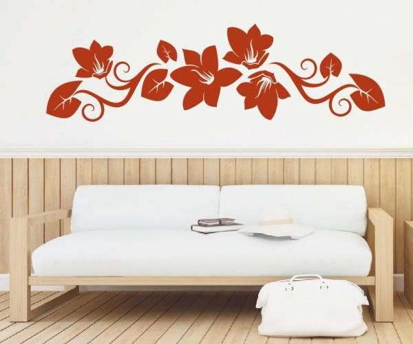 Wandtattoo - Blumenmotiv / Blumenranke   204