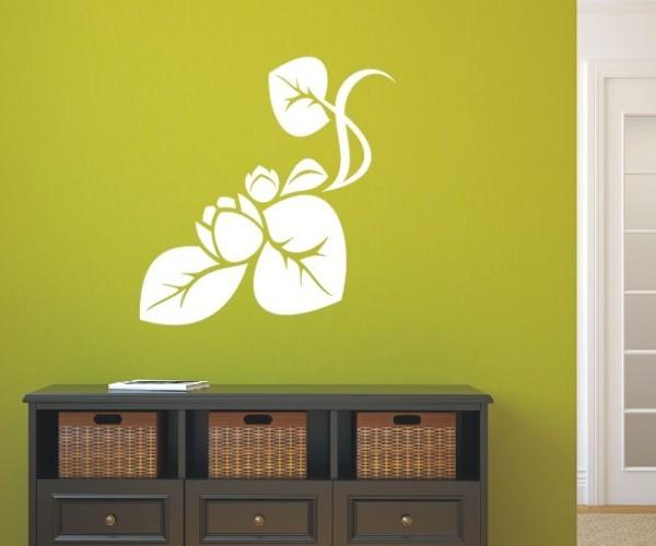 Wandtattoo - Blumenmotiv / Blumenranke - Variante 6