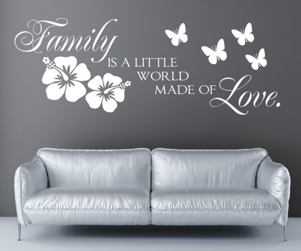Wandtattoo - Family is a little world made of Love. | 1