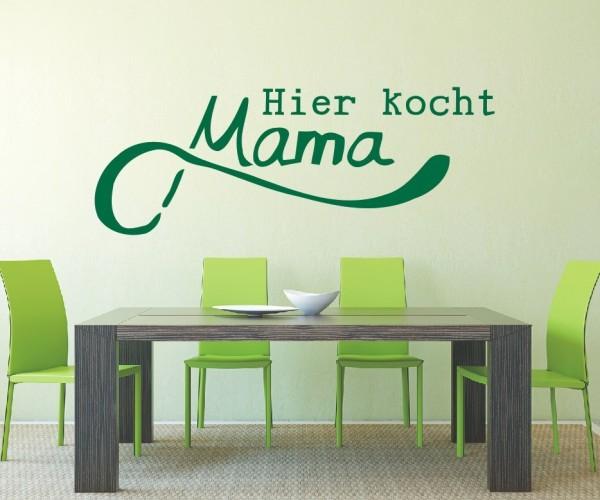 Wandtattoo - Küche - Kocht Mama Küche Esszimmer Coffeshop Wandbild Wanddeko