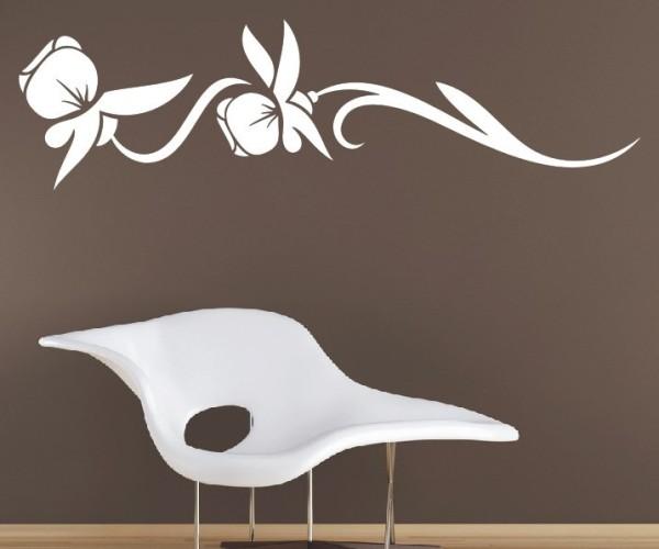Wandtattoo - Blumenmotiv / Blumenranke - Variante 237