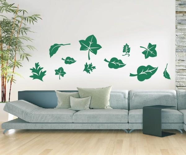 Wandtattoo - Blätter / Laub - Set / Mehrteilig