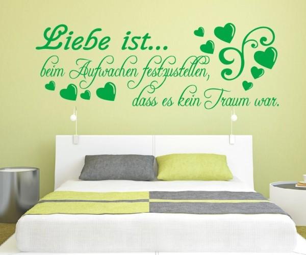 Wandtattoo - Liebe ist... beim Aufwachen festzustellen, dass es kein Traum war. | 13