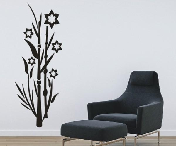 Wandtattoo - Blumenmotiv / Blumenranke   184