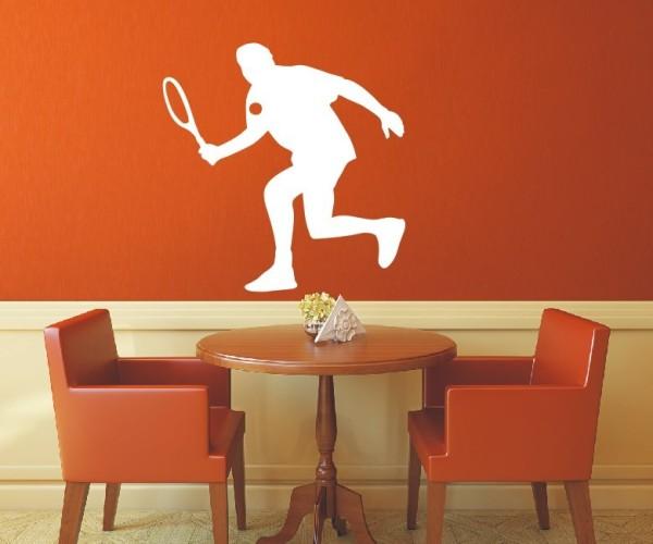 Wandtattoo - Tennis - Silhouette / Schattenmotiv   1