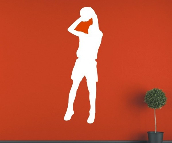 Wandtattoo - Basketball - Silhouette / Schattenmotiv - Variante 3