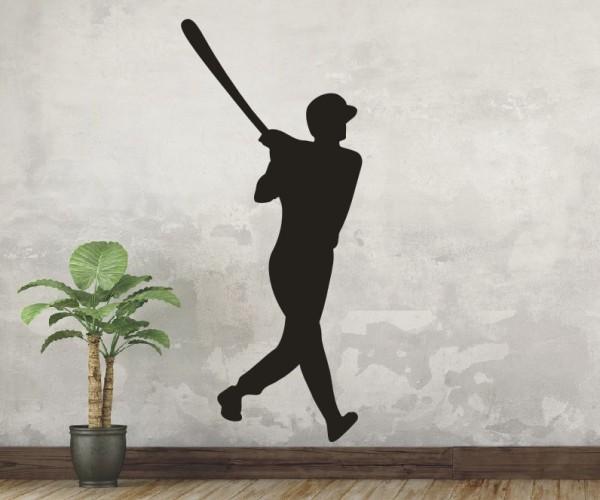 Wandtattoo - Baseball - Silhouette / Schattenmotiv | 5