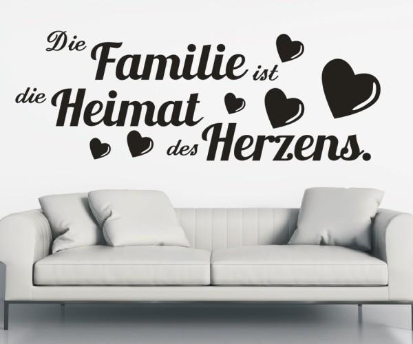 Wandtattoo - Die Familie ist die Heimat des Herzens. | 11