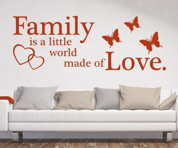 Wandtattoo - Family is a little world made of Love. - Variante 7