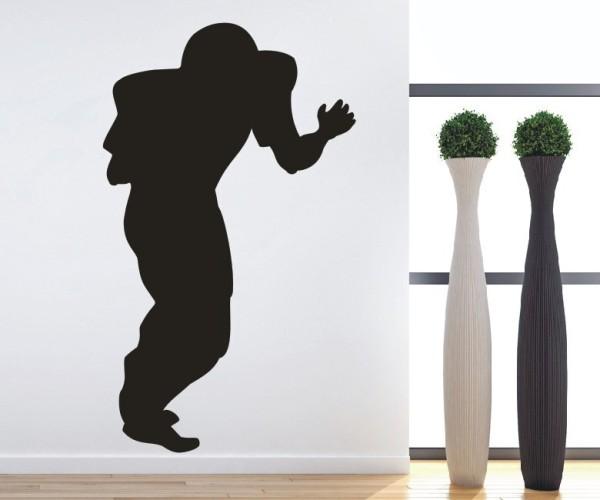 Wandtattoo - Football - Silhouette / Schattenmotiv - Variante 2
