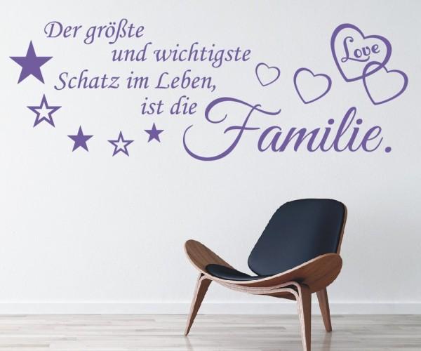 Wandtattoo - Der größte und wichtigste Schatz im Leben, ist die Familie! | 9