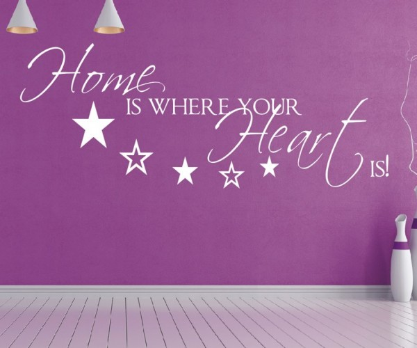 Wandtattoo - Home is where your Heart is! - Variante 2